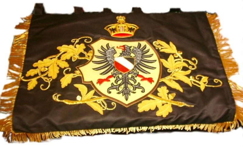 Patriotic Imperial Germany Banner Price: $250 one-sided 17 x 24 inches