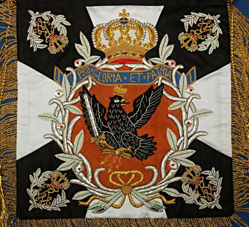 1st & 2nd Garde Uhlan Regiments 1898 Banner  Size 12 x 12 Inches Price:  $120.00