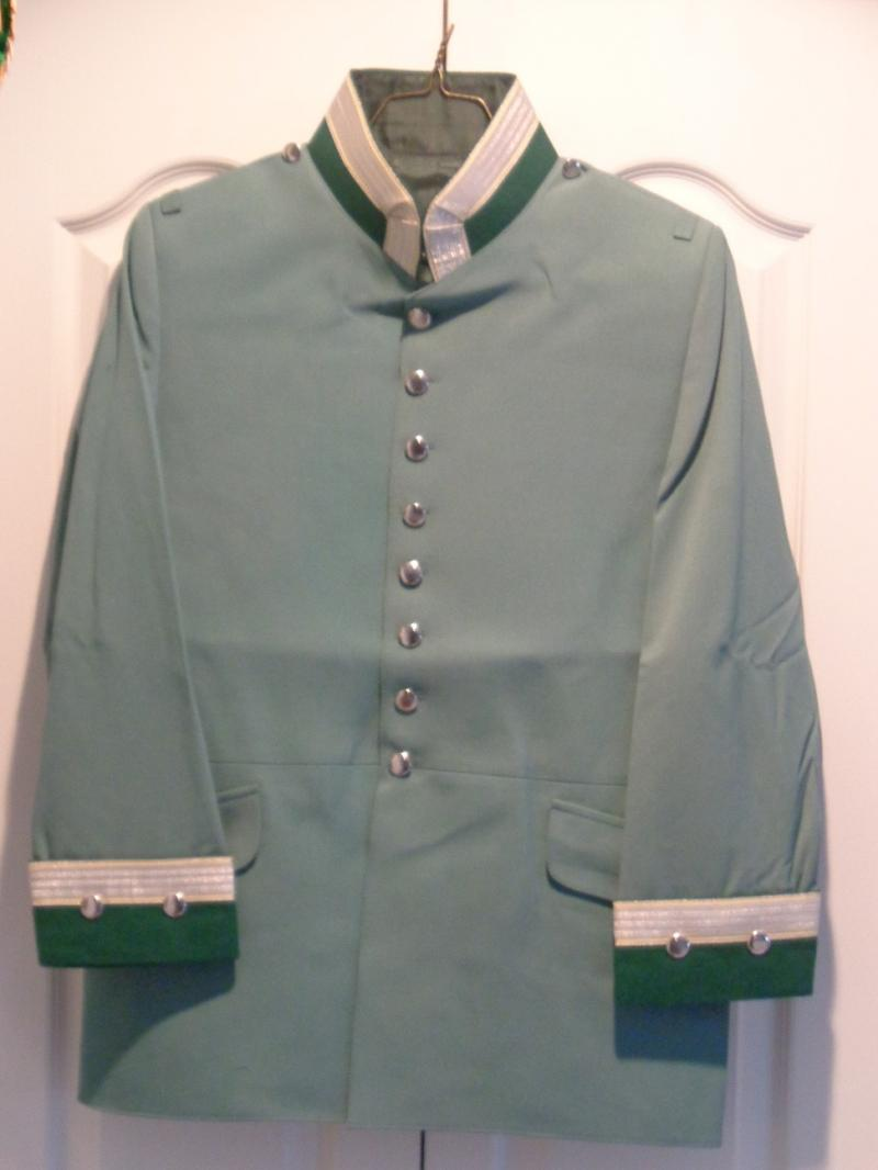 Prussian Jaeger zu Pferde Officer's Tunic Price:  $450.00