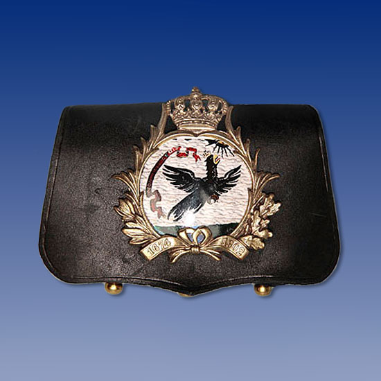 Prussian Leib-Kurassier Officer's Cartridge Pouch  Price:  $180.00