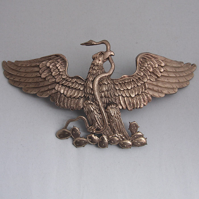 Rare Reproduction Imperial Mexican Eagle for Pickelhaube Size:  230x115mm