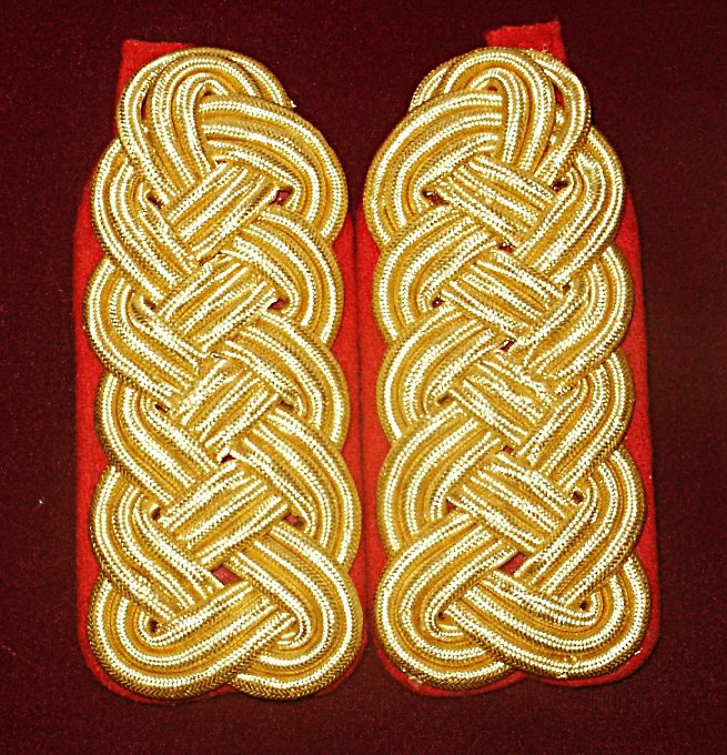 Officer's Gold Braided Shoulder Boards Price:  $50.00 per Set