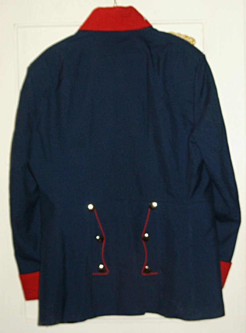 Prussian Tunic with Swedish Cuffs rear