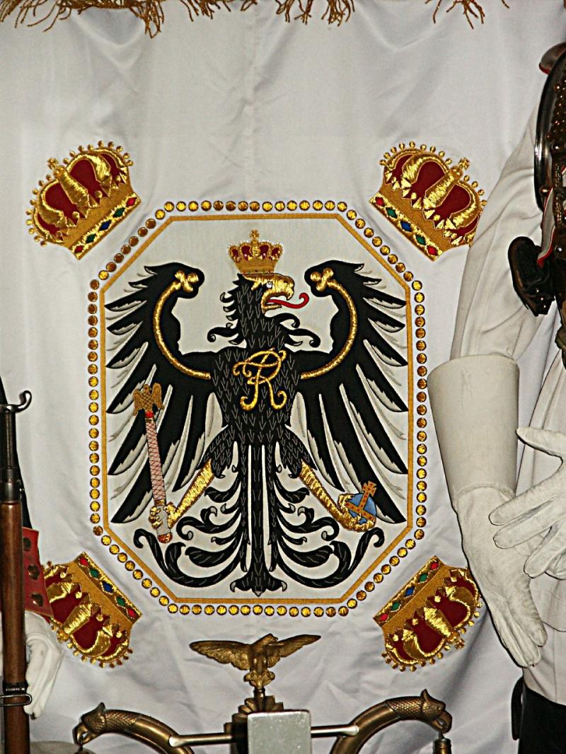 Prussian Eagle & Crown Banner  Price:  $400.00 one -sided 44 x 44 inches
