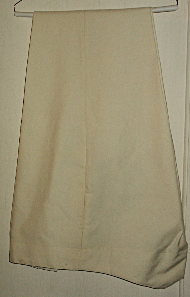 White Wool Trousers Parade Dress Price:  $110.00