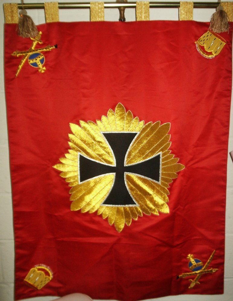 Blucherstern Banner  Price: $300.00 one-sided 31 x 41.5 inches