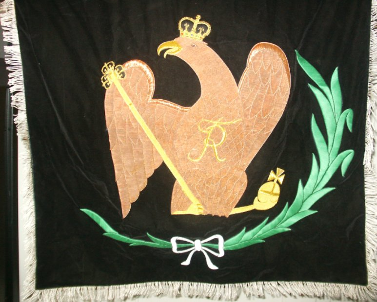 Ornamental Prussian Banner  Price: $300.00 one-sided 32 x 32 inches