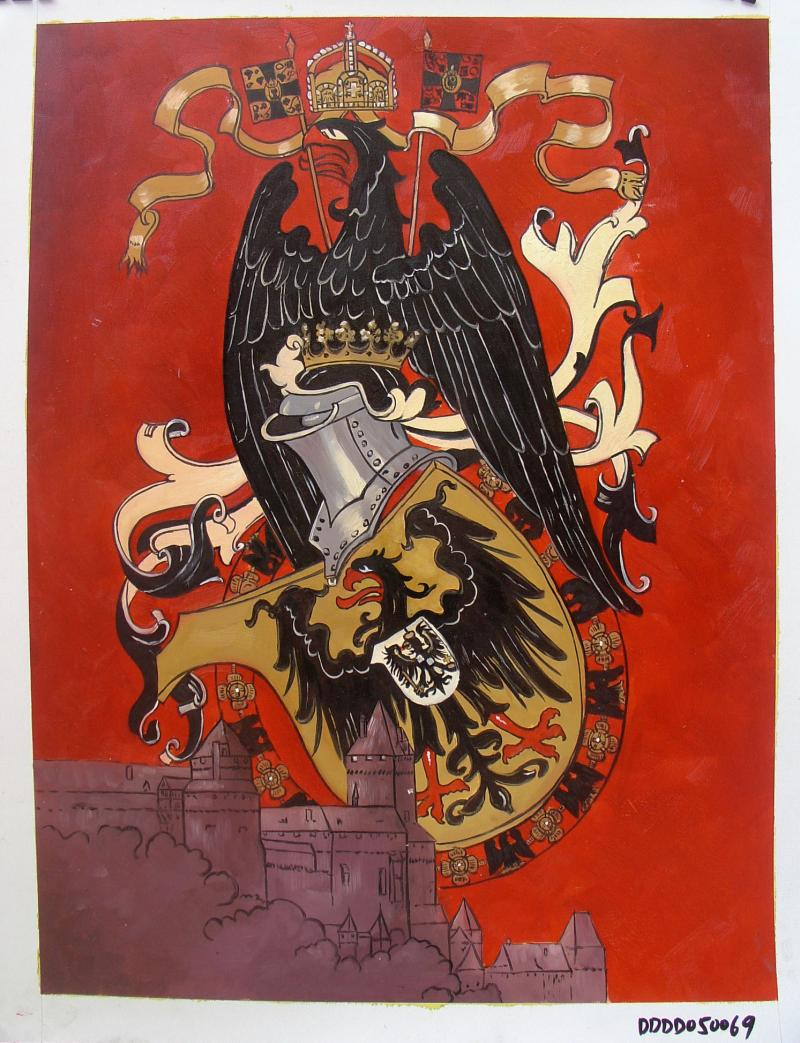 IMPERIAL GERMAN EAGLE OVER SCHLOSS 18 x 24 Inches Price:  $300.00