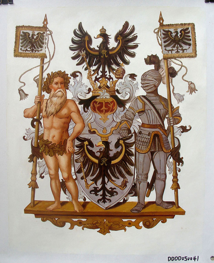 PROVINCE OF EAST PRUSSIA COAT OF ARMS size 18 x 24 Inches Price:  $300.00