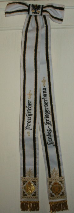 Prussian Veteran's Society Flag Streamers Price: $180.00 one-sided 34 x 3 inches