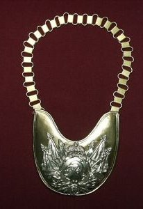 Prussian Garde du Corps Trooper's Gorget Price:  $180.00 does not include chain