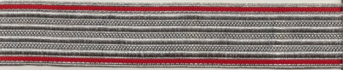 Garde du Corps Officer's Braid Price: $20.00 per meter Regulation 3.4 cm width