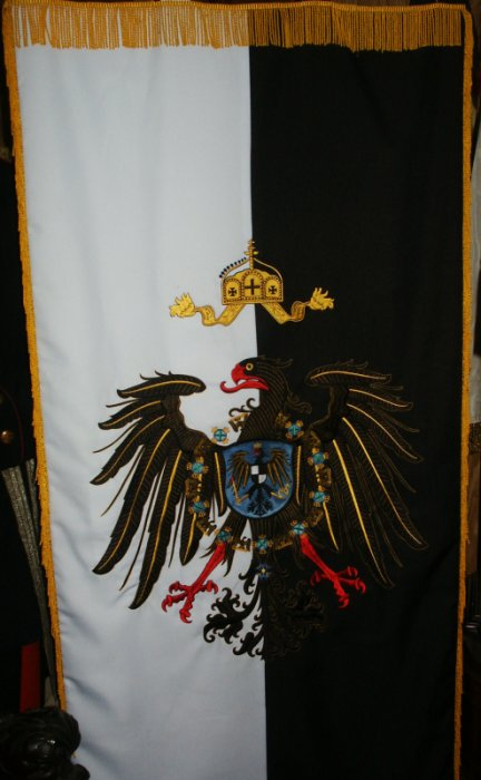 Imperial German Parade Banner Price: $350.00 one-sided 24 x 48 inches
