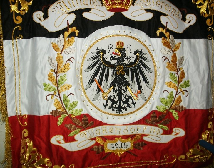 Imperial German Veteran's Banner 1914 Price: $500.00 one-sided 44.50 x 41.75 inches
