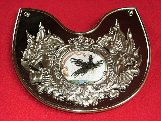 Prussian Leib-Kurassier Officer's Gorget  Price:  $210.00