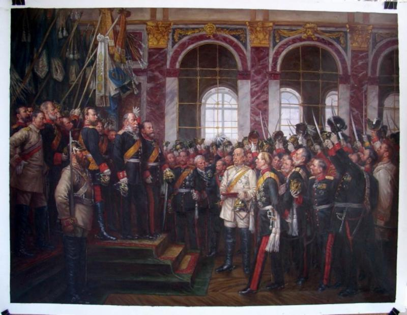 PROCLAMATION OF THE GERMAN EMPIRE 1871 Size 36 x 48 Inches Price:  $1,500.00