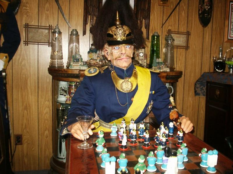 Prussian Officer Playing Chess