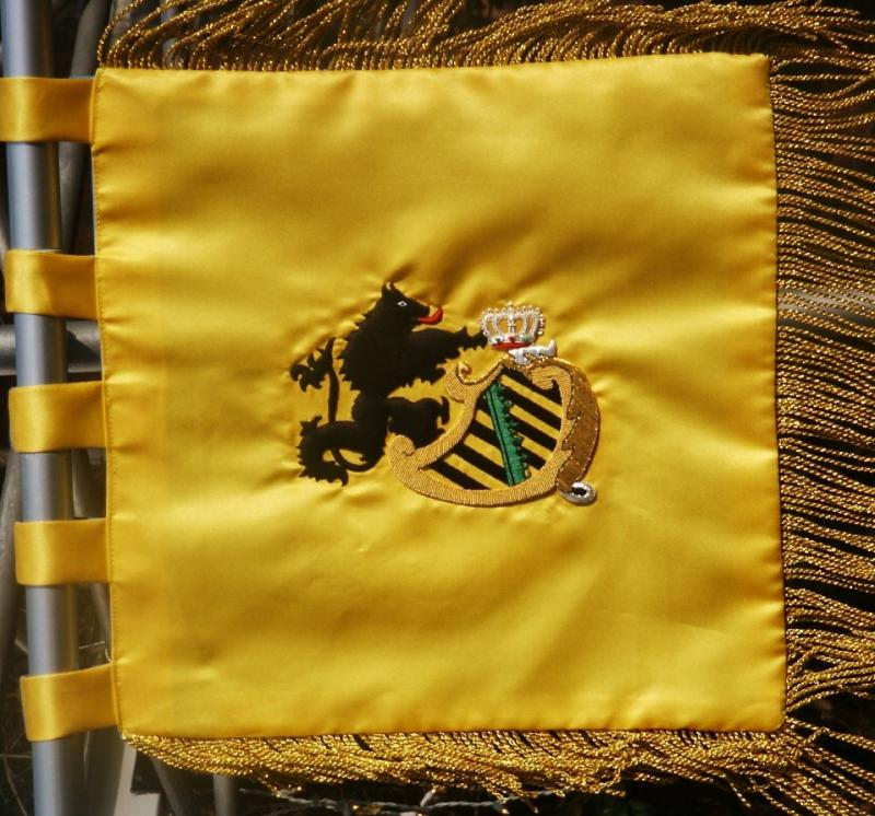 Sachsen Bugle Corps Ceremonial Trumpet Banner  Price: $200.00 double-sided 32cm